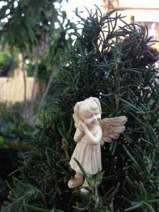 Fairies of The Rosemary Garden - Little Girl Fairy in Tree