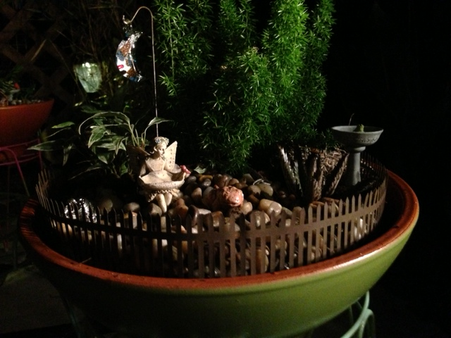 Half Moon Fairy Garden - Evening View